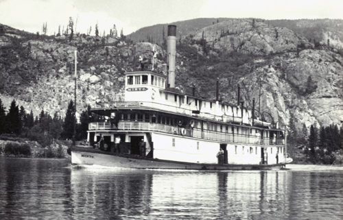 The S.S. Minto, on the Lower Arrow Lakes, circa 1950
