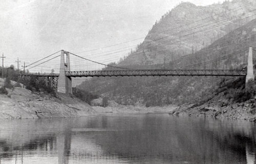 Brilliant Suspension Bridge, constructed by the Doukhobor community in 1913