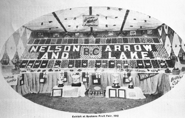 1912 exhibition at Spokane showcased produce from the Arrow Lakes and Nelson