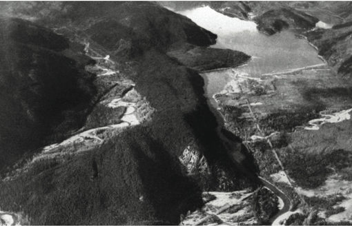 Duncan Lake before the dam, 1962