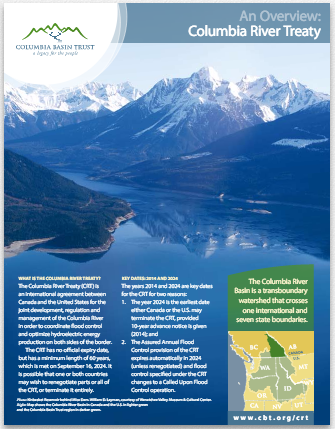 Columbia River Treaty Brochure